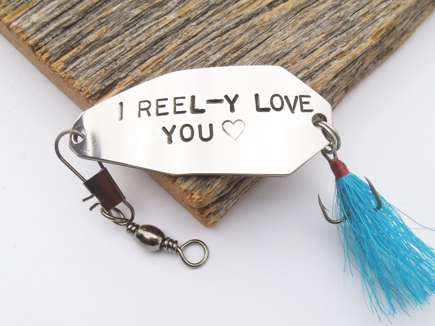 Personalized for him fishing lure i love you gift for for Personalized fishing lure