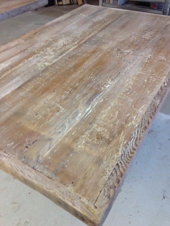 Reclaimed wood table top white wash finish by Where can i buy reclaimed wood near me