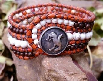 Beaded cuff bracelet, Yee Haw!! Handmade and gorgeous!