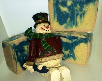 Snowy Winter Day Handmade Soap, eucalyptus scented soap, #seriouslygoodsoap