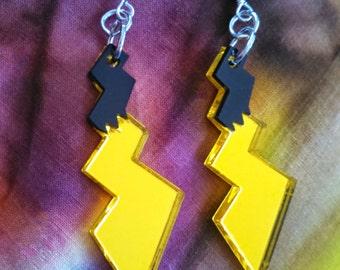 Metallic Pikachu Tail Earrings