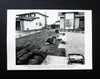 Bill Owens Postcard from 'Suburbia' Family Series Black and White 1972 Vintage