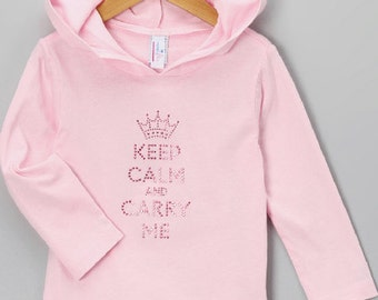 Hoodie Tee PINK Keep Calm and Carry Me!