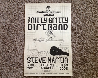 The Nitty Gritty Dirt Band Poster Feautring Steve Martin