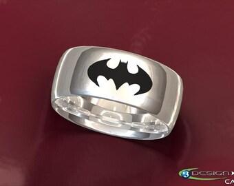 Batman wedding ring Etsy