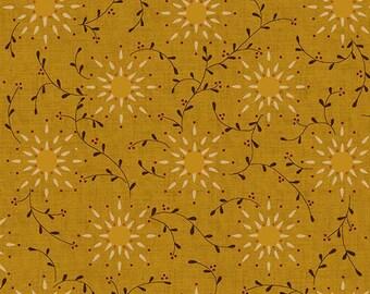 "Kim Deihl, ""Heritage Hollow"" gold vine fbric."