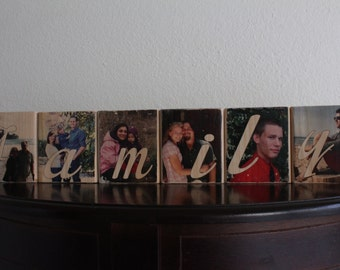 FAMILY Wood Photo Blocks