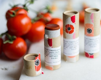 "TOMATO | LIP BALM | Organic | Turmeric | Honey | Orange Lip Tint- ""You Say Tomato"""