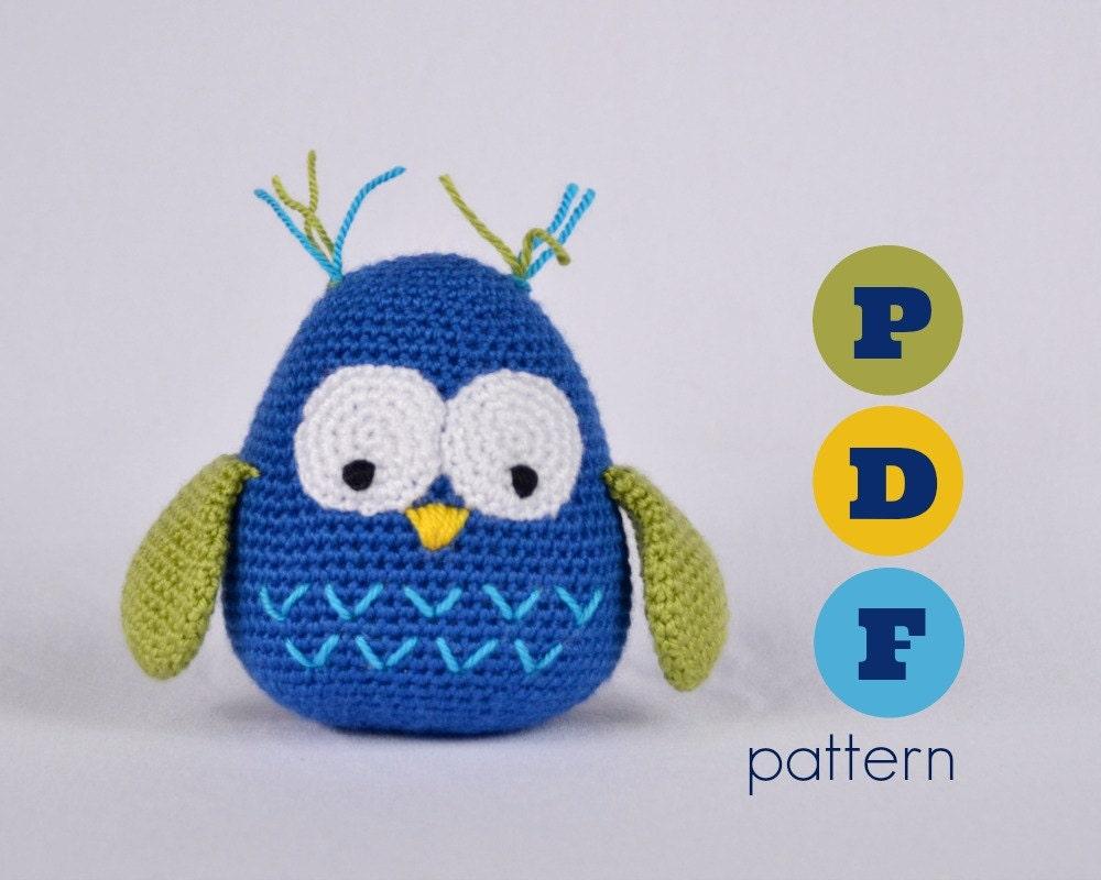 Free Crochet Pattern For Pot Holder Doll : PDF Amigurumi large owl pattern. Instant download file.