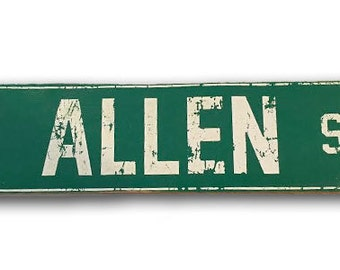 Allen St Buffalo, NY wooden sign