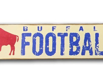 Buffalo Football wooden sign