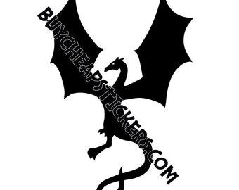 Dragon Silhouette Decal/Sticker- 4x6