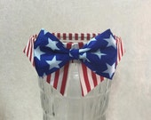 Patriotic Dog Bow Tie, 4th of July Dog, Dog Accessory