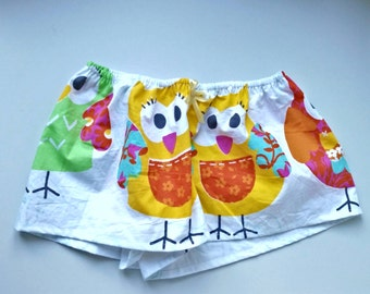 Little fun owl shorts Fashionable Made from cotton Colorful Different sizes available Washable cotton Breathable cotton Made by JolantaPF