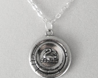 Once Upon a Time Emma Swan Antique Silver Pendant Necklace