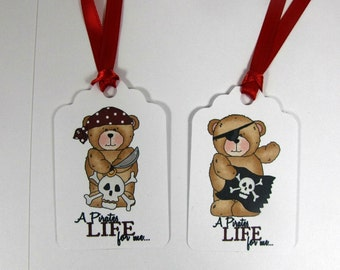 Pirate tags, pirate birthday tags, candy bag tag,pirate birthday favors