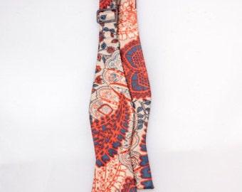 Boys Rose Paisley Silk Bow Tie