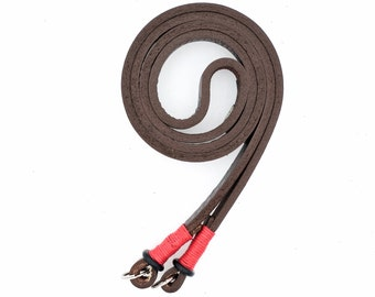 Leather Camera Neck Strap — Brown/Red — by E3 Supply Co.