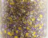 Interception - Purple Yellow White Team Spirit Glitter Nail Polish Vikings LSU colors 5 free nail polish vegan cruelty free handmade