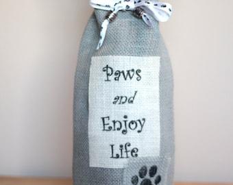 Paws and Enjoy Life - Wine Bag