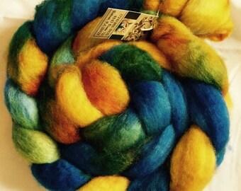 Hand Dyed BFL Wool Roving SAILING Free Shipping