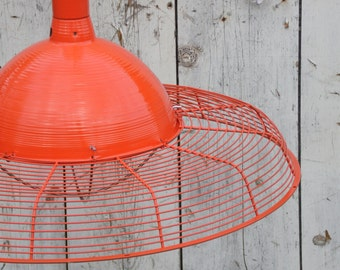 Custom Colored Light Fixture, Barn Light, Industrial Lighting, Pendant Light, Swag Light, Handmade Lighting, Pendant Lighting, Barn Lighting