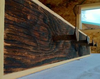 Barn Wood Coat Rack