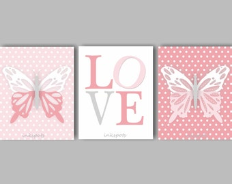 Butterfly Nursery Decor Girls Room Butterfly Nursery Art Butterfly Wall Art Butterfly Bedding Decor Butterfly Print Choose ColorsBF2631