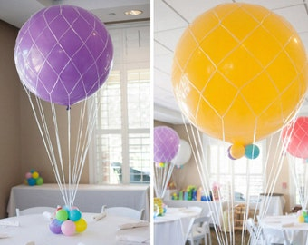 "Balloon Nets for Giant 36"", 24"" or 16"" Inch Balloons - Hot Air Balloons, Wedding, Baby Shower, Birthday Party, Photo Prop"