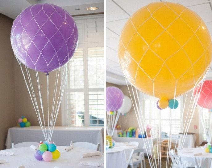 how to make hot air balloon gift basket