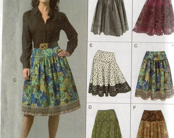 Vogue Easy Options Pattern 8295 FLARED SKIRTS Misses 6 8 10 12