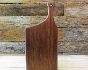 Wooden Cutting Board, Walnut, Offset Handle