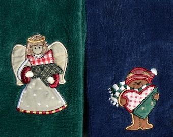 Xmas Guest Hand Towels Circa 1980s