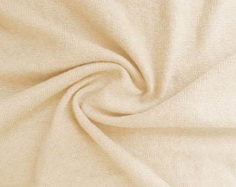 Natural White Cotton Jersey by the Half Yard
