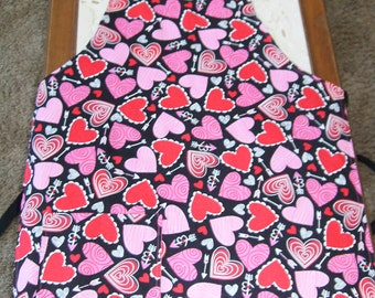 Valentine's Day Reversible Adult Apron
