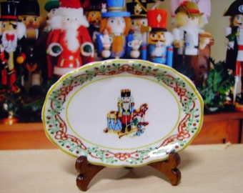 Christmas Whimsy  Miniature Tray for Dollhouse, 1:12 scale