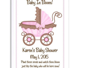 64 Pink and Brown Baby Shower Favors