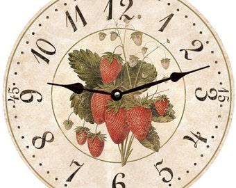 Strawberry Clock- Strawberry Wall Clock