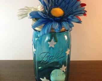 Americana Decorative Mason Jar