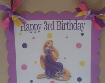Rapunzel, Tangled Birthday Door Sign