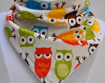 Bandana Bib - Baby Drool Bib - Bermuda Owl