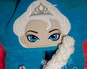 Ice Queen Hooded Towel - Beach towel, removable braid