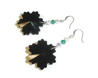 Swarovski black snowflake earrings
