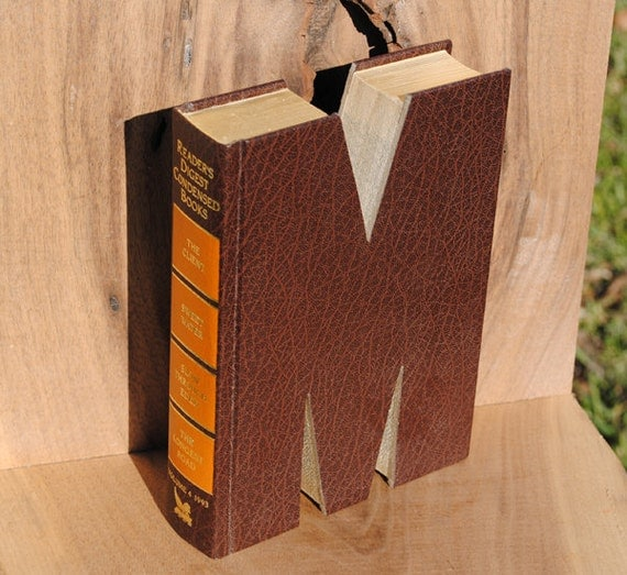 Book Letter (M) Free Shipping in the US. (M3)