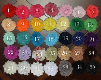 You pick 10- Shabby Hair Clip Set, Flower Hair Clips, Hair Clip