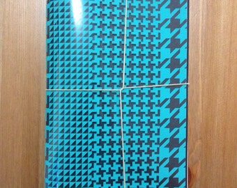 Black and Turquoise paper journal