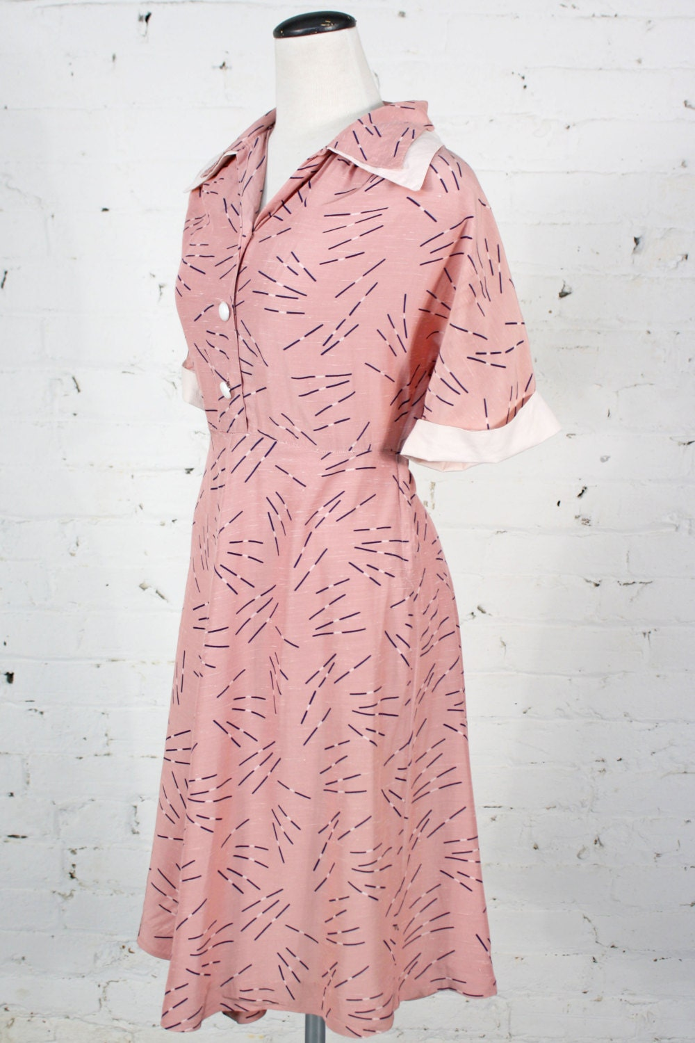 A Royal Night Out: 1940s Pink Day Dress