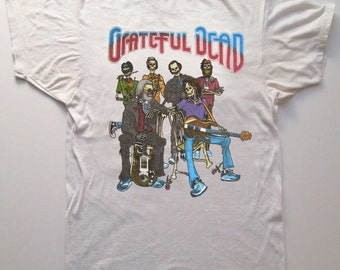 Grateful Dead T Shirt ...  Band of Skeletons .. 1987 ... In the Dark