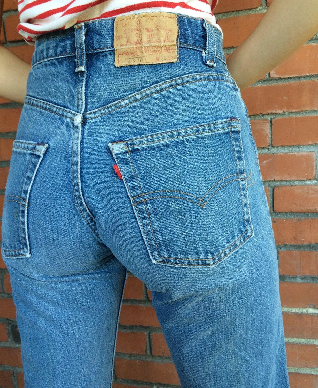 70s levis 505 jeans 28 waist high waist mom jeans. Black Bedroom Furniture Sets. Home Design Ideas