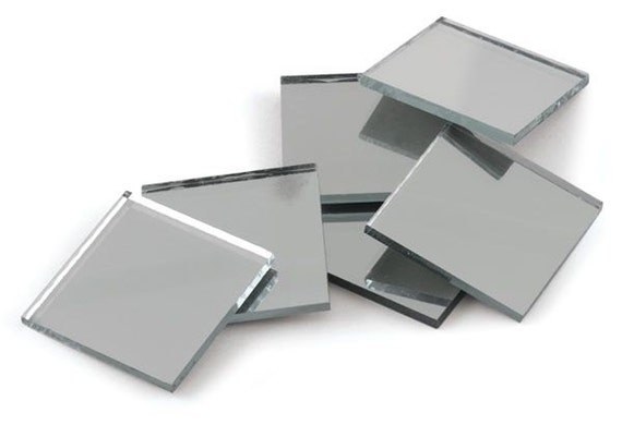 24 Mirror Tile Small Squares 1 2 X 1 2 Inch Square
